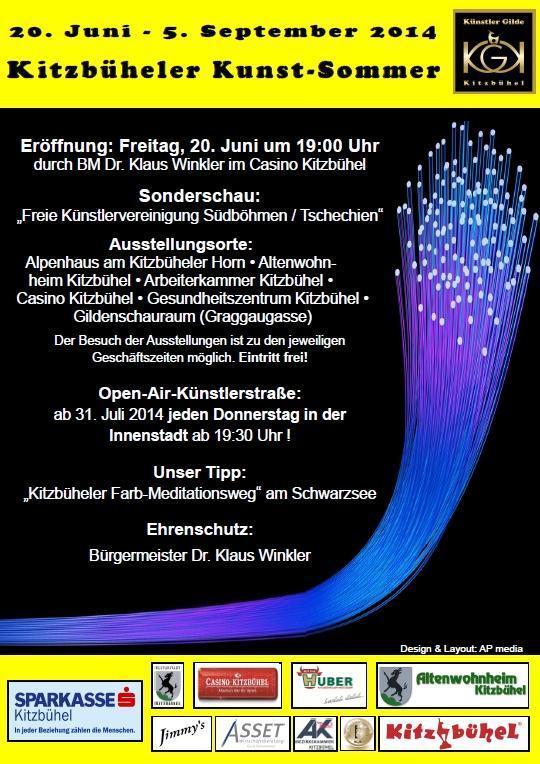 Vernisáž 20.6.2014 v kasínu za účasti všech vystavujících