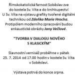 Výstava Jany Večlové v Soběslavi 2014