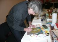 Po prvé měl žehličku v ruce a excelentně namalovat portrét na savý papír.